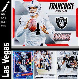 Las Vegas Raiders 4 Card Lot - FTBL [17_6]